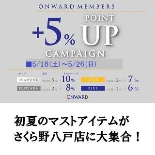 オンワードメンバーズ ポイントアップキャンペーン