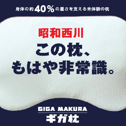 【昭和西川】ギガ枕